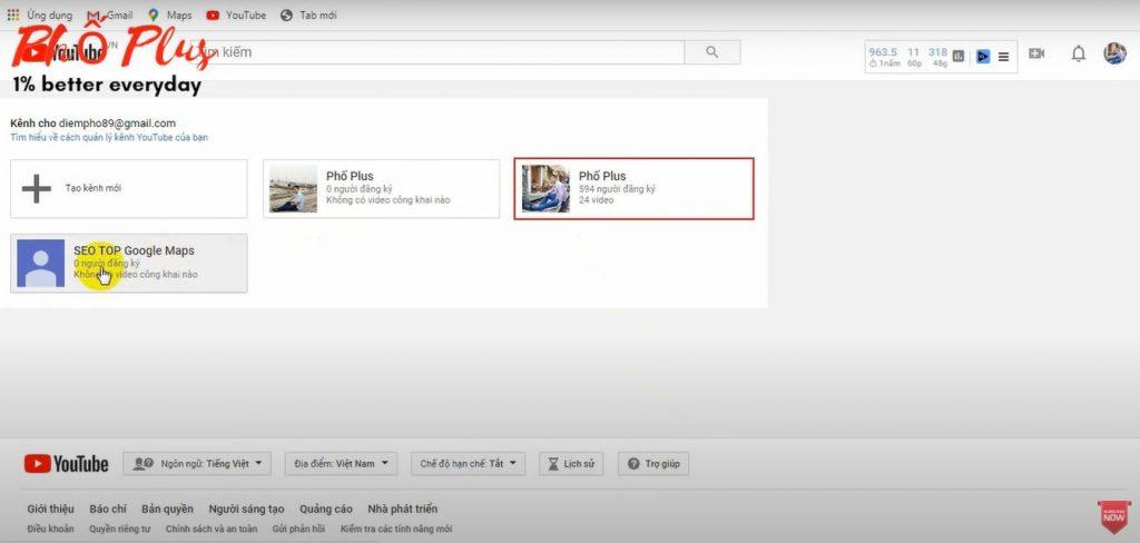 cách xóa kênh Youtube phụ