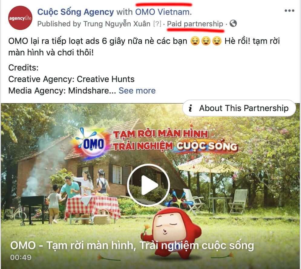 Ví dụ về Branded Content của OMO