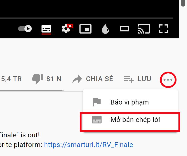 cách tải video có phụ đề trên Youtube