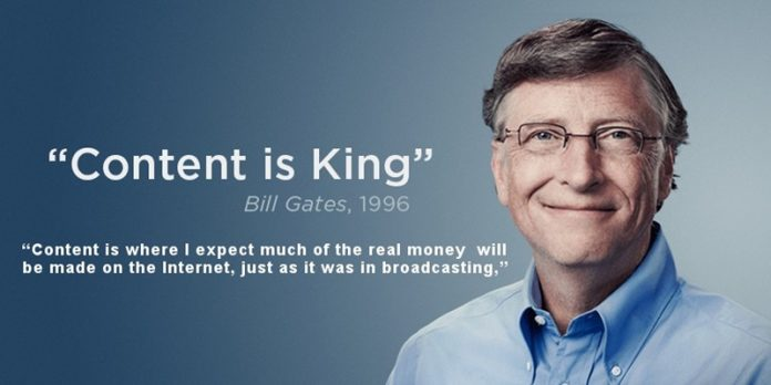 Content is King Cau noi khang dinh vi tri cua Content tu Bill Gates