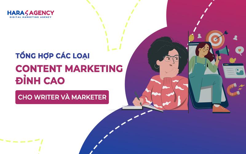 tổng hợp các loại content marketing